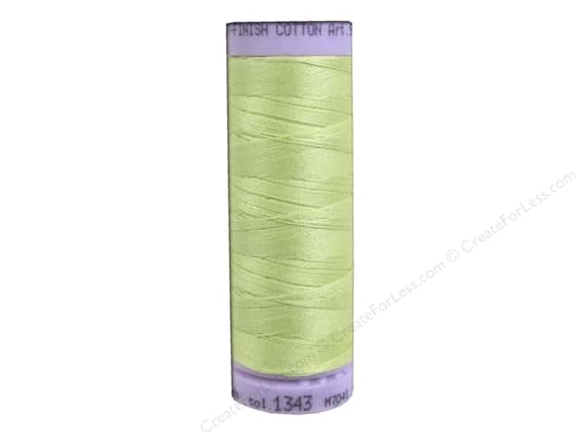 Mettler Silk Finish Cotton Thread 50 wt. 164 yd. #1343 Spring Green