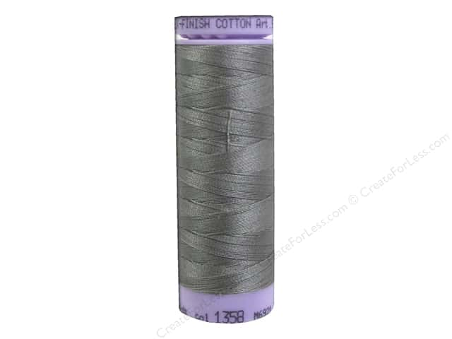 Mettler Silk Finish Cotton Thread 50 wt. 164 yd. #1358 December Sky