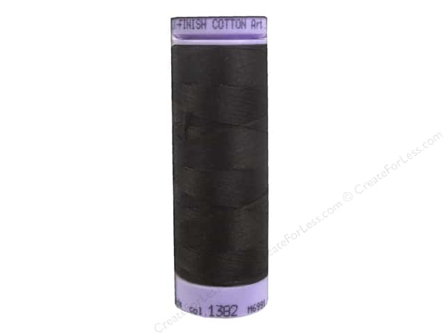 Mettler Silk Finish Cotton Thread 50 wt. 164 yd. #1382 Black Peppercorn