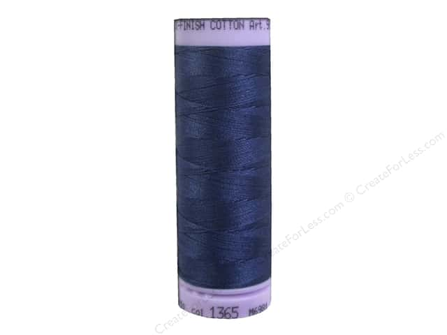 Mettler Silk Finish Cotton Thread 50 wt. 164 yd. #1365 True Navy
