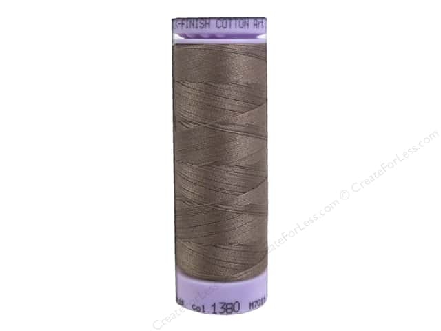 Mettler Silk Finish Cotton Thread 50 wt. 164 yd. #1380 Espresso