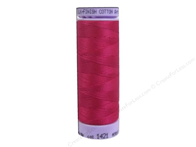 Mettler Silk Finish Cotton Thread 50 wt. 164 yd. #1421 Fuchsia