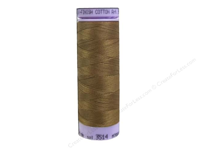 Mettler Silk Finish Cotton Thread 50 wt. 164 yd. #3514 Bronze Brown