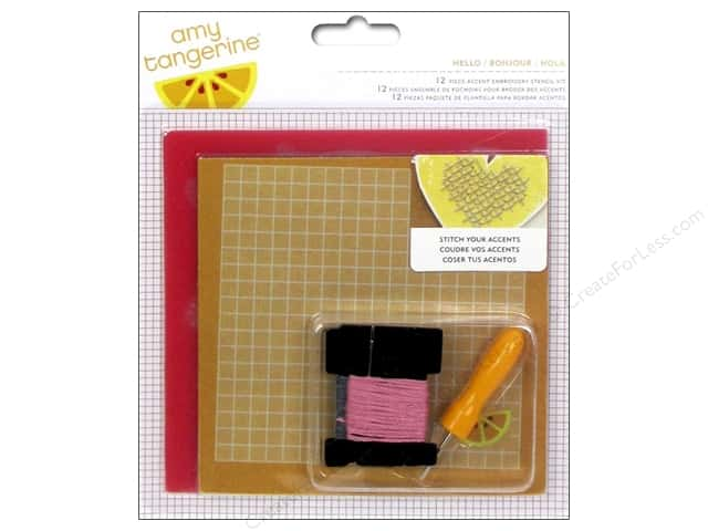 American Crafts Embroidery Kit Amy Tangerine Stitched Hello