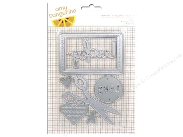 American Crafts Dies 7 pc. Amy Tangerine Stitched