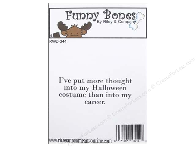 Riley & Company Cling Stamps Funny Bones Halloween Costume