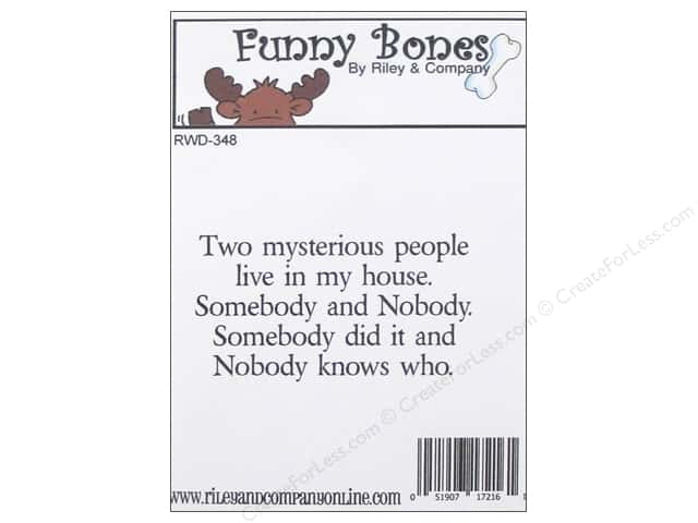 Riley & Company Cling Stamps Funny Bones Two Mysterious People