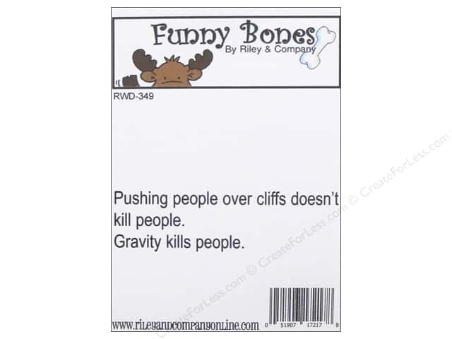 Riley & Company Cling Stamps Funny Bones Gravity Kills