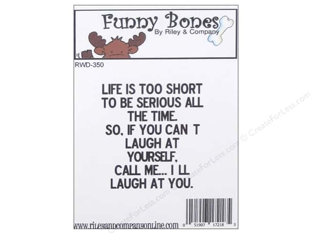 Riley & Company Cling Stamps Funny Bones I'll Laugh At You