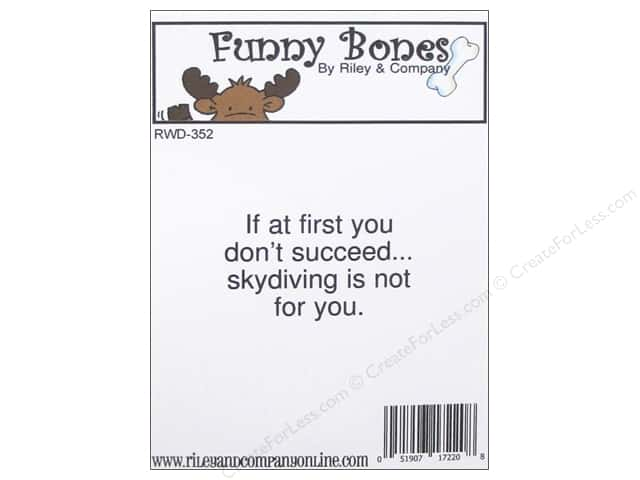 Riley & Company Cling Stamps Funny Bones Skydiving