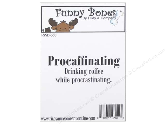 Riley & Company Cling Stamps Funny Bones Procaffinating