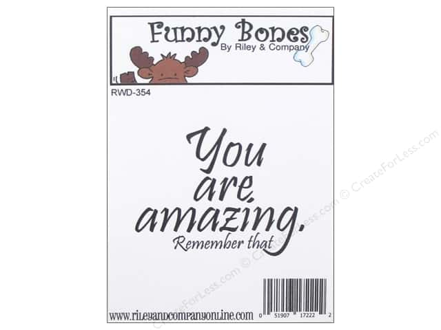 Riley & Company Cling Stamps Funny Bones You Are Amazing