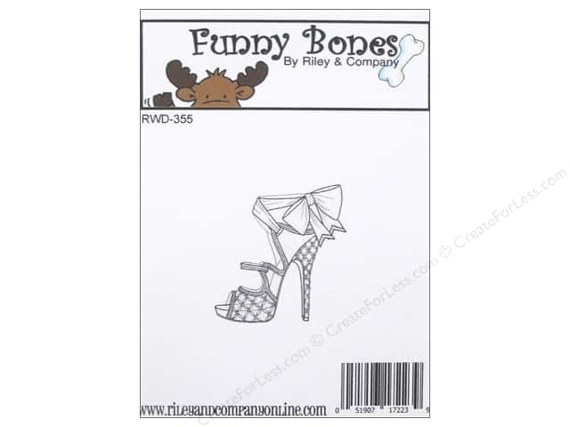 Riley & Company Cling Stamps Funny Bones Single Shoe