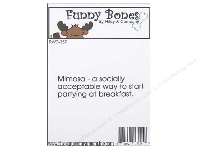 Riley & Company Cling Stamps Funny Bones Mimosa
