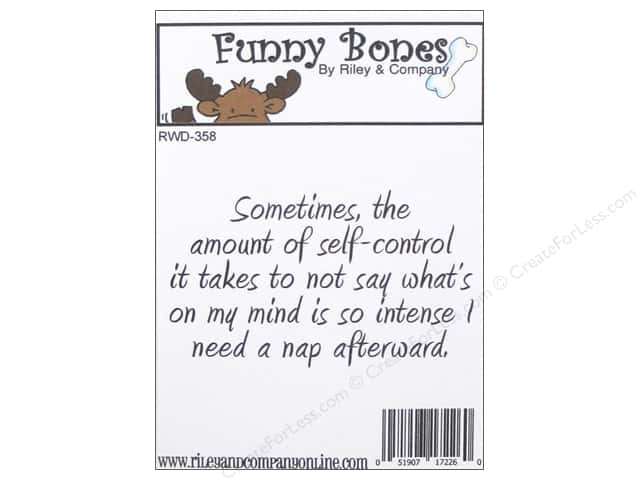 Riley & Company Cling Stamps Funny Bones Self-Control