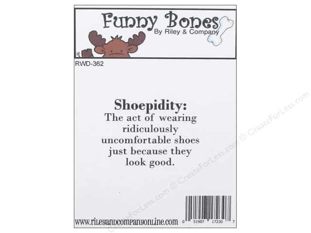 Riley & Company Cling Stamps Funny Bones Shoepidity