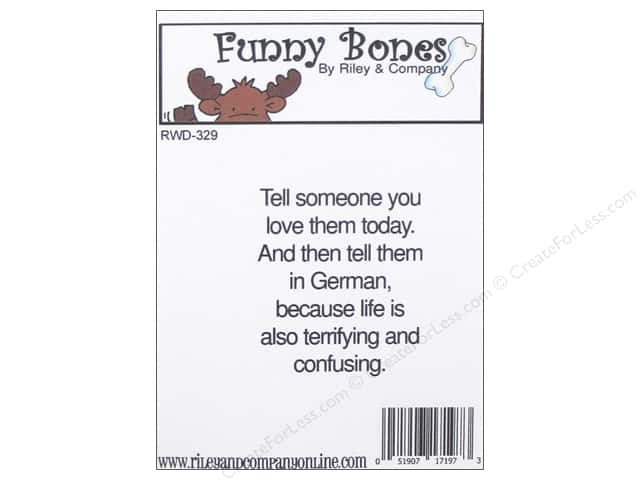 Riley & Company Cling Stamps Funny Bones Tell Someone You Love Them
