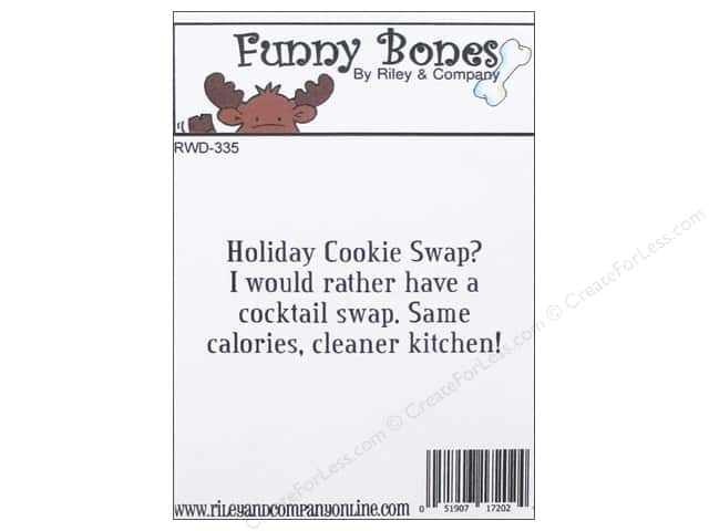 Riley & Company Cling Stamps Funny Bones Cookie Swap