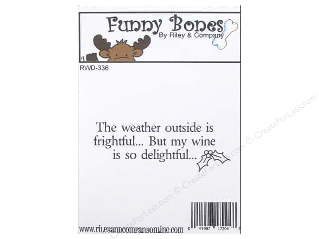 Riley & Company Cling Stamps Funny Bones Weather Outside Is Frightful