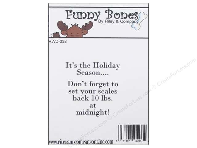 Riley & Company Cling Stamps Funny Bones It's The Holiday Season