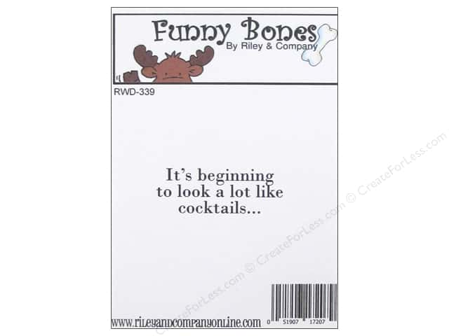 Riley & Company Cling Stamps Funny Bones It's Beginning To Look