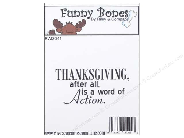 Riley & Company Cling Stamps Funny Bones Thanksgiving