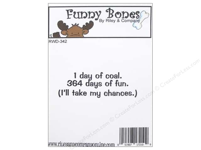 Riley & Company Cling Stamps Funny Bones Day Of Coal