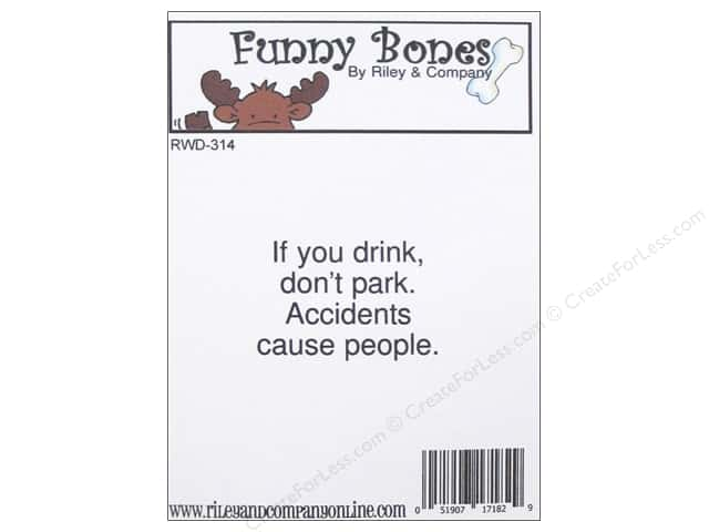 Riley & Company Cling Stamps Funny Bones Accidents Cause People