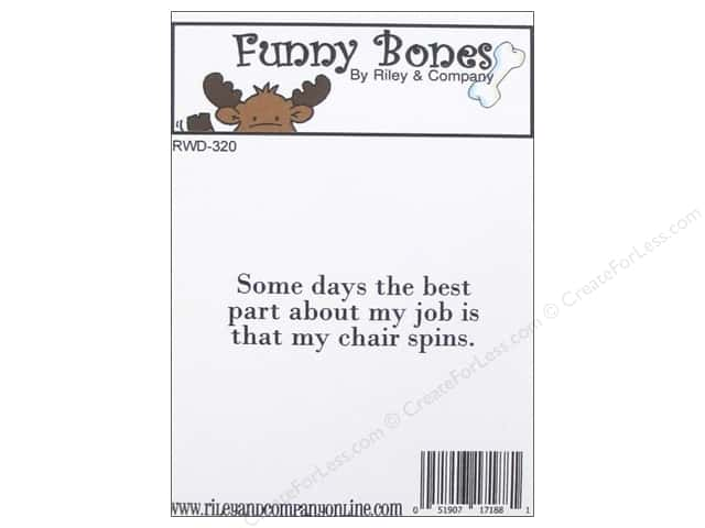 Riley & Company Cling Stamps Funny Bones My Chair Spins