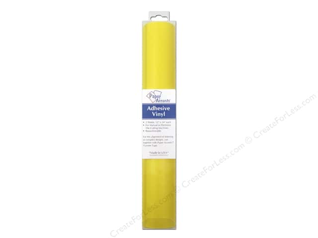 Paper Accents Adhesive Vinyl 12 x 24 in. Removable Sunshine 2 pc.