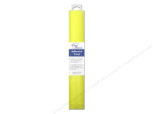 Paper Accents Adhesive Vinyl 12 x 24 in. Removable Bright Yellow 2 pc.