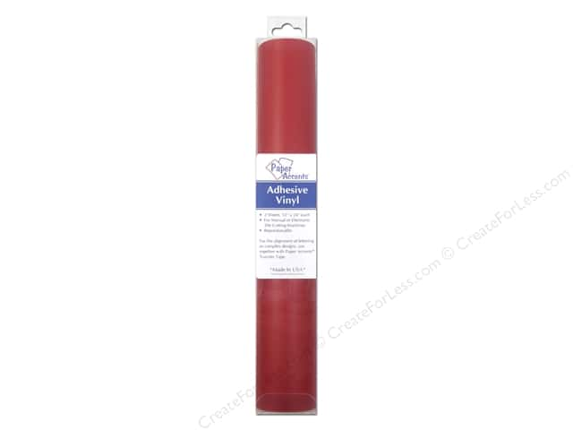 Paper Accents Adhesive Vinyl 12 x 24 in. Removable Red 2 pc.