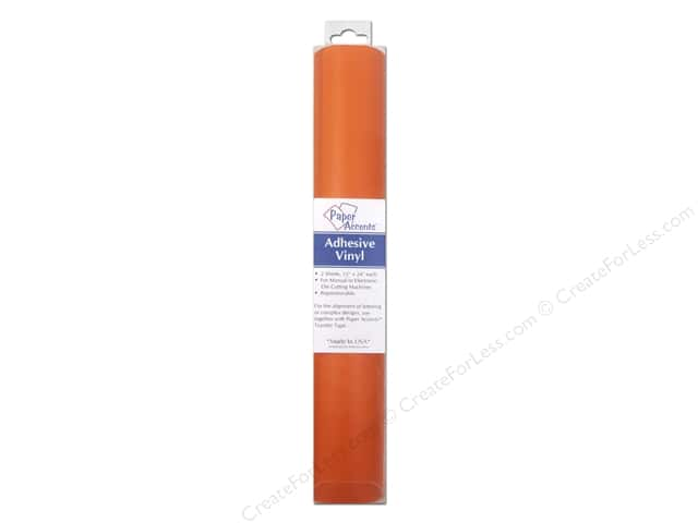Paper Accents Adhesive Vinyl 12 x 24 in. Removable Pastel Orange 2 pc.