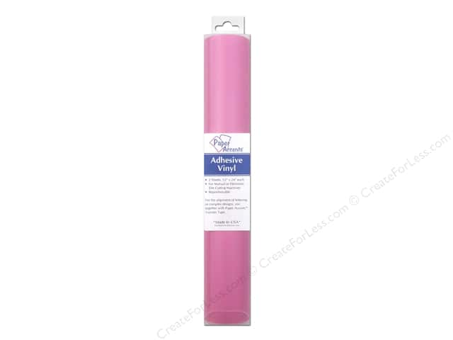 Paper Accents Adhesive Vinyl 12 x 24 in. Removable Soft Pink 2 pc.