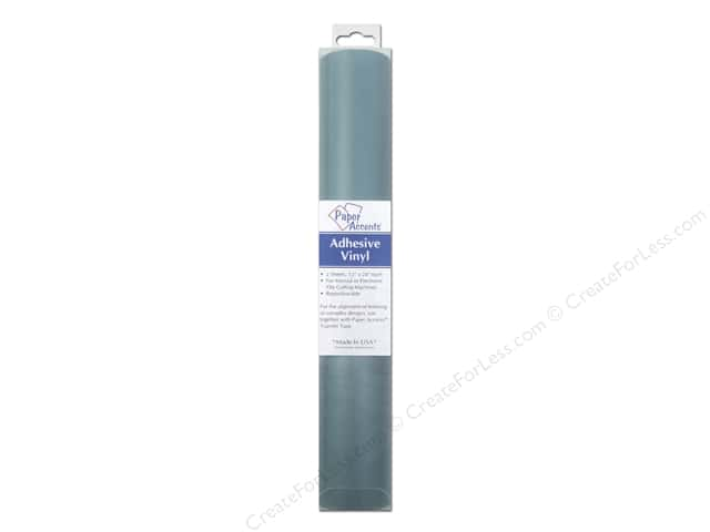 Paper Accents Adhesive Vinyl 12 x 24 in. Removable Bay Blue Pkg 2 pc.