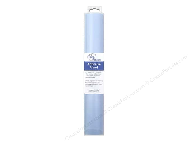Paper Accents Adhesive Vinyl 12 x 24 in. Removable Powder Blue 2 pc.