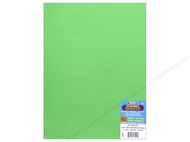 Foamies Foam Sheet 9 x 12 in. 2 mm. Light Green