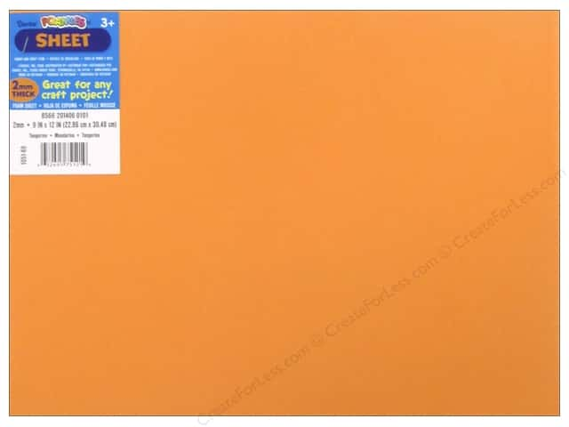 Darice Foamies Foam Sheet 9 x 12 in. 2 mm. Tangerine