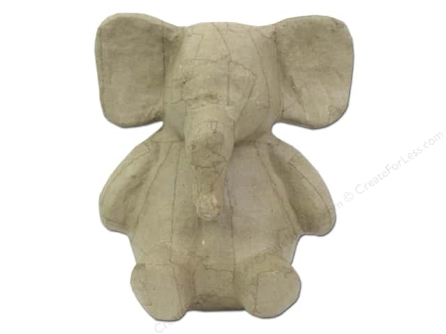 Paper Mache Sitting Elephant 8 1/4 in. by Craft Pedlars