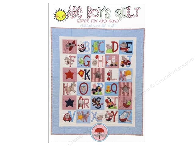Red Brolly ABC Boys Quilt Pattern