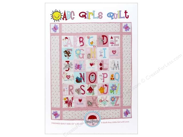 Red Brolly ABC Girls Quilt Pattern