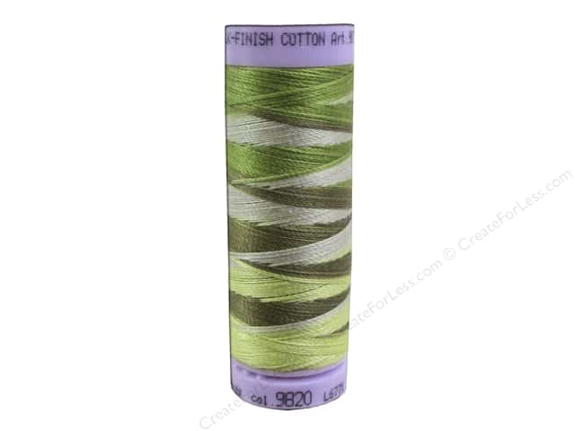 Mettler Silk Finish Cotton Thread 50 wt. 109 yd. #9820 Green Tea