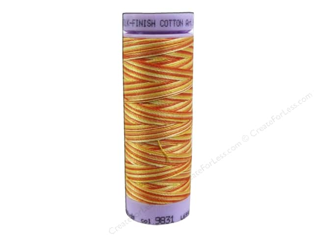 Mettler Silk Finish Cotton Thread 50 wt. 109 yd. #9831 Orange Ana