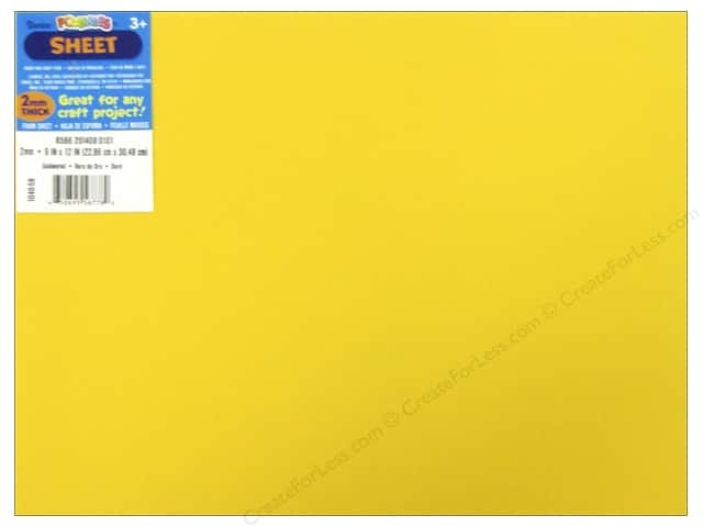 Darice Foamies Foam Sheet 9 x 12 in. 2 mm. Goldenrod (10 sheets)
