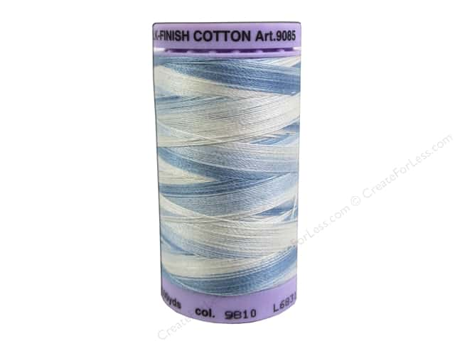 Mettler Silk Finish Cotton Thread 50 wt. 500 yd. #9810 Tranquil Blue