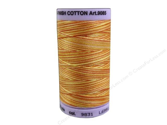 Mettler Silk Finish Cotton Thread 50 wt. 500 yd. #9831 Orange Ana