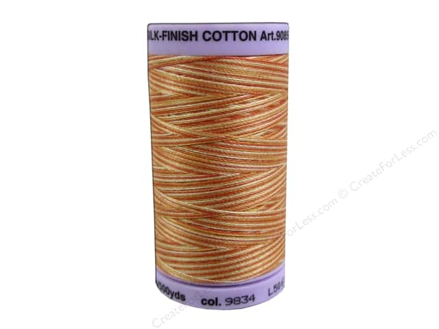Mettler Silk Finish Cotton Thread 50 wt. 500 yd. #9834 Rust Ombre