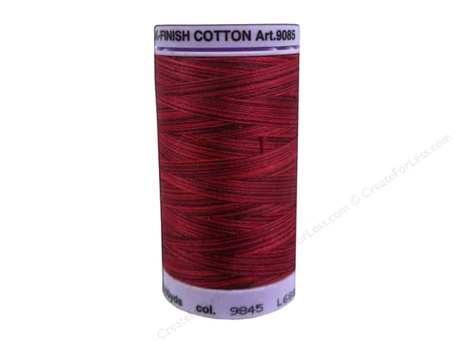 Mettler Silk Finish Cotton Thread 50 wt. 500 yd. #9845 Midnight Garnet