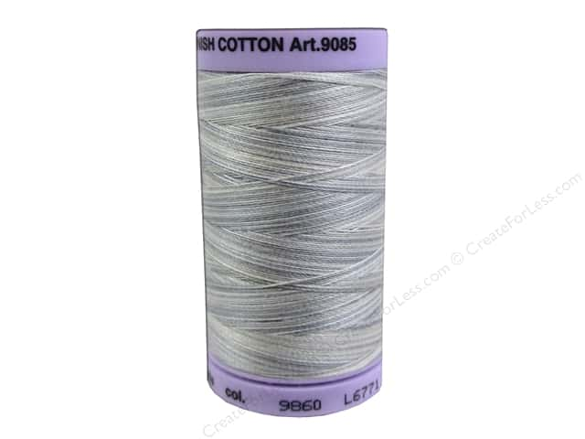 Mettler Silk Finish Cotton Thread 50 wt. 500 yd. #9860 Dove Gray