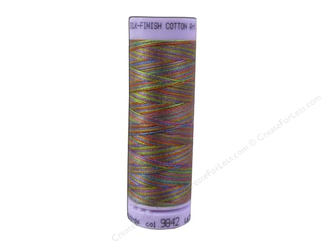 Mettler Silk Finish Cotton Thread 50 wt. 109 yd. #9842 Preppy Brights